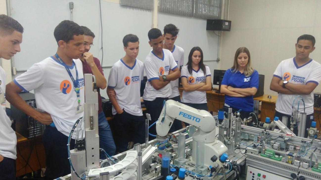 Unidade Projeto Pescar ZF - Visita técnica na Fatec Sorocaba
